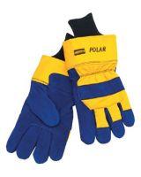 Honeywell North 068-70/6465Nk Mens North Polar Ins Glove Blue Lthr W/Ylw Back (1 BG)