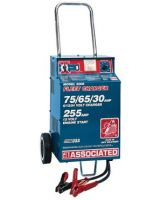 Associated Equipment 6006 Fast Charger 75/65/30 Amps Wheels- 455