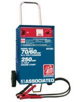 Associated Equipment 6012 6/12 Volt Fast Charger-Wheels- Ul 70/60 Amp