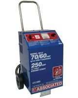 Associated Equipment 6012 6/12 Volt Fast Charger-Wheels- Ul 70/60 Amp