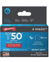 "Arrow Fastener 506SS1 83538 T50 Ss Staples 3/8""X.050 1-000/Pack"