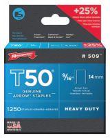 "Arrow Fastener 509 50016 T50 9/16"" Staples1250/Pk .050 Wire (1 PK)"