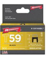 "Arrow Fastener 591168BL 1/4"" Insulated Staple Black 300/Box"