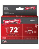 Arrow Fastener 721189 T72 Insulated Fastener Wire Tacker Pk/300