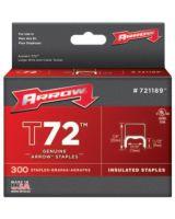 Arrow Fastener 721189 T72 Insulated Fastener Wire Tacker Pk/300 (40 PK)