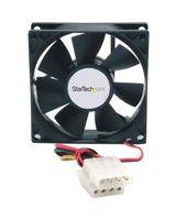 StarTech.com 80x25mm Dual Ball Bearing Computer Case Fan w/ LP4 Connector - System fan kit - 80 mm - 80mm - 3000rpm
