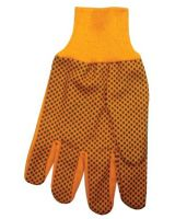 Anchor Brand 101-1040 10 Oz Hi-Vis Orange Plastic Dot Canvas Glove (Qty: 12)