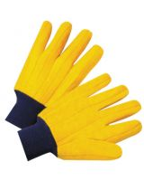 West Chester FM18KWK Knit Wrist Full Yellow Chore Glove-100% Cotton S (1 PR)