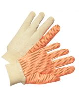 Anchor Brand 1090 Anchor  Canvas Glove W/Orange Pvc Dots (12 PR)