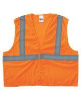 Anchor Brand 2PHLO-L/XL Cls 2 Econo Vest Mesh H&L Pocket Orng L/Xl