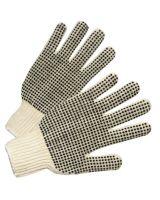 West Chester 708SKBSL Ladies Cotton String Knit Glove Dotted On Both S (12 PR)