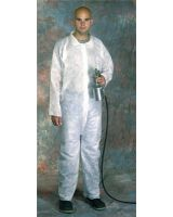 West Chester 813-3500/Xxl Sbp White Coverall Zipper Front- Collar (Qty: 25)