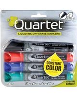 Quartet® EnduraGlide® Dry-Erase Markers - Chisel Point Style - Assorted - 4 / Set