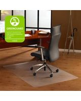 "Cleartex Ultimat Chair Mat for Hard Floors - Home, Office, Hardwood Floor, Floor, Hard Floor, Carpeted Floor - 47"" Length x 35"" Width x 75 mil Thickness - Rectangle - Polycarbonate - Clear"