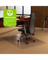 "Cleartex Ultimat Chair Mat for Low to Medium-pile Carpets - Home, Office, Carpeted Floor, Floor - 60"" Length x 48"" Width x 90 mil Thickness - Rectangle - Polycarbonate - Clear"