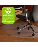 "Cleartex Ultimat Chair Mat for Hard Floors - Home, Office, Hardwood Floor, Floor - 49"" Length x 39"" Width x 75 mil Thickness - Rectangle - Polycarbonate - Clear"