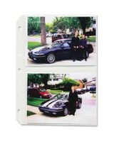 "C-Line Traditional Photo Holder - 4 Capacity - 5"" x 7"" - 3-Ring Binding - 3-Hole Punched - Refillable - Clear Polypropylene Cover"""