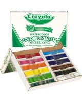 Crayola Classpack Watercolor Pencil Set - Assorted Lead - Wood Barrel - 240 / Box