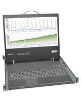 "Tripp Lite Rack Console Short-Depth KVM Cable Kit w/ 19"" LCD VGA 1U - 1 Computer(s) - 19"" Active Matrix TFT LCD - 1U Height"