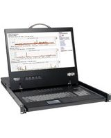 "Tripp Lite 8-Port Rack Console VGA KVM Switch w/ 19"" LCD 1U TAA - 8 Computer(s) - 19"" Active Matrix TFT LCD - 8 x HD-15 Keyboard/Mouse/Video"