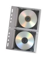 Fellowes CD Binder Sheet - 10 pack - Sleeve - Slide Insert - Vinyl - Clear - 2 CD/DVD