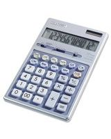 "Sharp EL339HB Desktop Display Calculator - Auto Power Source Switching - 12 Digits - LCD - Battery/Solar Powered - 1 - Button Cell - 6.9"" x 4.3"" x 0.7"" - Metal - 1 Each"