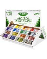 Crayola Large Size Crayons and Washable Marker Classpack - Red, Yellow, Green, Blue, Orange, Violet, Brown, Black Ink - Red, Yellow, Green, Blue, Orange, Violet, Brown, Black Wax - 1 / Box
