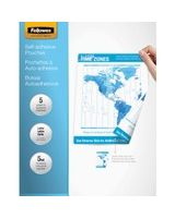 "Fellowes Self-Adhesive Pouches - Letter, 5 pack - Sheet Size Supported: Letter - Laminating Pouch/Sheet Size: 9"" Width x 11.50"" Length x 5 mil Thickness - for Document, Photo - Self-adhesive - Clear - 5 / Pack"