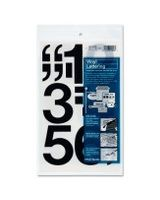 "Chartpak Permanent Adhesive Vinyl Numbers - 10 Numbers - Self-adhesive - 3"" Height - Black - Vinyl"