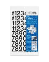 "Chartpak Permanent Adhesive Vinyl Numbers - 44 Numbers - Self-adhesive - 1"" Height - Black - Vinyl - 1 / Pack"
