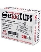 Advantus StikkiClips Adhesive Clips - for Paper, Notes, List, Artwork, Project, Schedule - 20 Pack - White