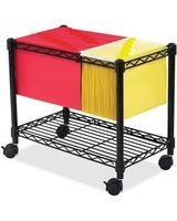 "Safco Wire Mobile File - 300 lb Capacity - 4 Casters - 2"" Caster Size - Steel - 14"" Width x 24"" Depth x 20.5"" Height - Black"
