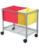"Safco 5201GR Wire Mobile File - 1 Shelf - 300 lb Capacity - 4 Casters - 2"" Caster Size - Steel - 14"" Width x 24"" Depth x 20.5"" Height - Gray"
