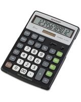 "Sharp ELR297 Recycled Calculator - Easy-to-read Display, Environmentally Friendly, Dual Power, Double Zero, Sign Change, 4-Key Memory, Automatic Power Down - Battery/Solar Powered - 7.8"" x 5.1"" x 0.7"" - Black, Silver - 1 Each"