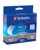 Verbatim BD-R 25GB 6X with Branded Surface - 10pk Spindle Box - 25GB - 10pk Spindle