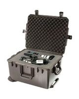 "Pelican iM2750 Storm Case - Internal Dimensions: 22"" Width x 12.70"" Depth x 17"" Height - External Dimensions: 24.6"" Width x 14.4"" Depth x 19.7"" Height - 20.57 gal - Press & Pull Latch, Hasp Closure - HPX Resin - Black - For Military"