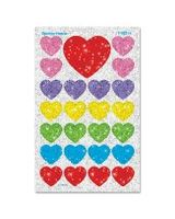 Trend superShapes Sticker - 100 Heart - Self-adhesive - Non-toxic, Acid-free, Photo-safe - Assorted - 100 / Pack