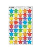 Trend superShapes Sticker - 180 Sparkle Stars - Self-adhesive - Non-toxic, Photo-safe, Acid-free - Assorted - 180 / Pack
