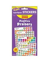 Trend SuperSpots Positive Praisers Sticker - 2500 Circle - Self-adhesive - Assorted - 1 / Pack