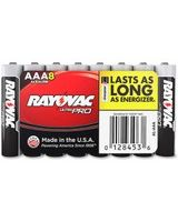 Rayovac Multipurpose Battery - 1187 mAh - AAA - Alkaline - 1.5 V DC - 8 / Pack
