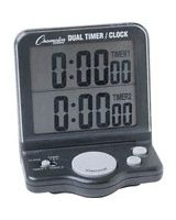 Champion Sport Dual Timer - 1 Day - Desktop, Wall Mountable - For Sports - Black
