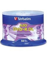 Verbatim DVD+R DL 8.5GB 8X with Branded Surface - 50pk Spindle - 120mm - 4 Hour Maximum Recording Time