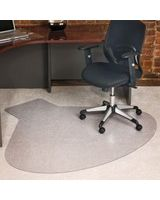 "ES Robbins Everlife Chair Mat - Medium Pile Carpet - 60"" Length x 66"" Width - Lip Size 10"" Length x 20"" Width - Rectangle - Vinyl - Clear"