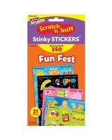 Trend Fun Fest Stinky Stickers Variety Pack - Treat, Birthday, Movie, Picnic, Water Play, School's In Theme/Subject - Scented, Acid-free, Non-toxic - Multicolor - 1 / Pack