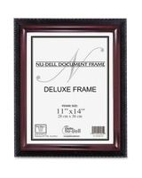 "Nu-Dell Document Frame - Holds 11"" x 14"" Insert - Rectangle - Desktop, Wall Mountable - Vertical, Horizontal - Soft Gloss - Easel Back, Break Resistant, Durable - Wood, Plastic - Mahogany Black"
