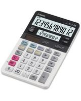 Casio JV-220 Dual Display Compact Desktop Calculator - Large Display - 12 Digits - Battery/Solar Powered - White - 1 Each