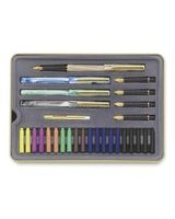 Staedtler 5 Nib Calligraphy Pen Set - Extra Fine, Fine, Medium, Bold, Extra Bold Pen Point Type - Water Based Ink - Marble Assorted Barrel - 5 / Set