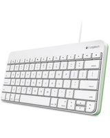 Logitech Wired Keyboard for iPad - Cable Connectivity - Proprietary Interface - Compatible with Tablet - QWERTY Keys Layout - Scissors - White