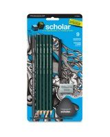 Prismacolor Scholar Graphite Drawing Set - 6B, 4B, 2B, 2H, 4H Pencil Grade - Assorted Lead - 9 / Pack