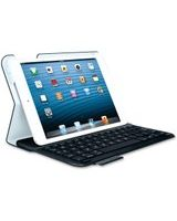 "Logitech Keyboard/Cover Case (Folio) for 7"" iPad mini - Black - Polyurethane Leather - 8.5"" Height x 5.9"" Width x 0.8"" Depth"